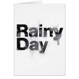 Cartão Dia chuvoso