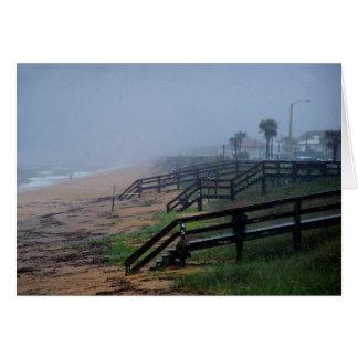 Cartão Dia chuvoso na praia Florida de Flagler