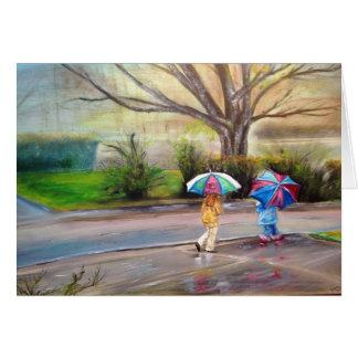 """Cartão """"Dia chuvoso perfeito """""""