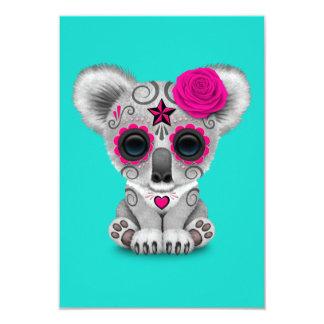 Cartão Dia cor-de-rosa do Koala inoperante do bebê
