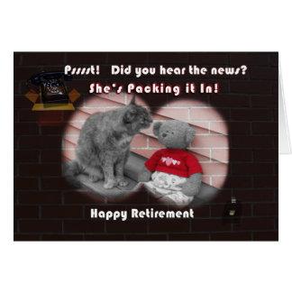Cartão Dia da aposentadoria