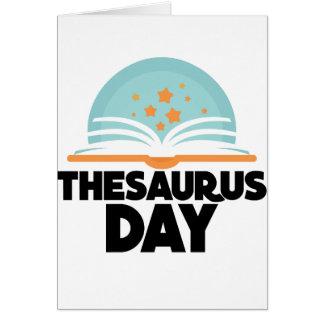 Cartão Dia da enciclopédia - dia da apreciação