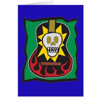 Cartão Dia da guitarra inoperante Skul w/Green azul