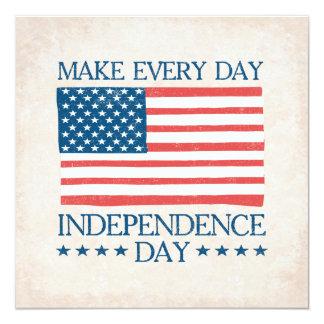 Cartão Dia da Independência 4o de CHURRASCO da família de