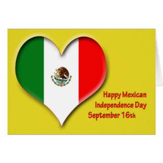 Cartão Dia da Independência o 16 de setembro mexicano