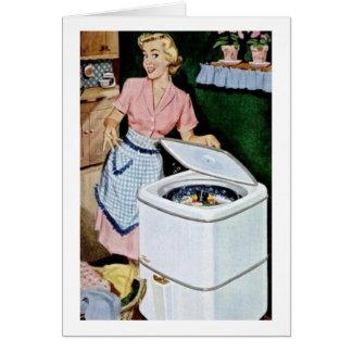 Cartão Dia da lavanderia,