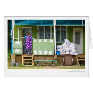 Cartão Dia da lavanderia em Tver Oblast