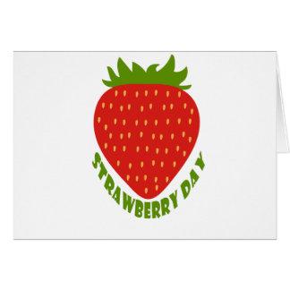 Cartão Dia da morango - dia da apreciação