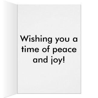 Cartão Dia da paz de mundo
