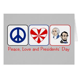 Cartão Dia da paz, do amor e dos presidentes