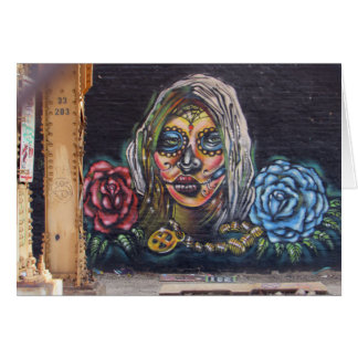 Cartão Dia da pintura mural inoperante