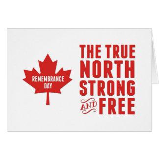 Cartão Dia da relembrança, o 11 de novembro, Canadá,