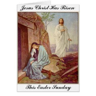 Cartão Dia da ressurreição da páscoa