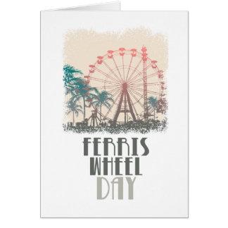 Cartão Dia da roda de Ferris - dia da apreciação