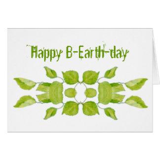 Cartão Dia da Terra o 22 de abril engraçado, aniversário,