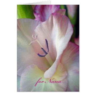 Cartão Dia das avós para Nana, foto cor-de-rosa do tipo