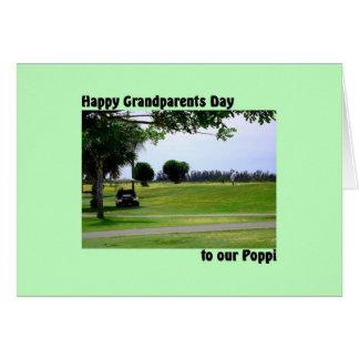 Cartão Dia das avós para Poppi com cena do golfe