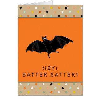 Cartão Dia das Bruxas engraçado