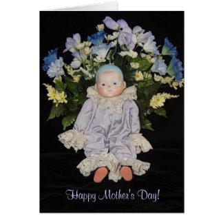 Cartão Dia das mães alegre do coração