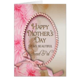 Cartão Dia das mães - amigo secreto - macio e feminino
