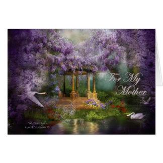 Cartão Dia das mães ArtCard do lago wisteria