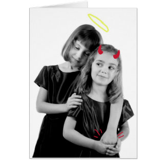 Cartão Dia das mães: Bens e o mal