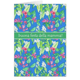 Cartão Dia das mães bonito do italiano da flor do