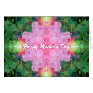Cartão Dia das mães cor-de-rosa da mandala