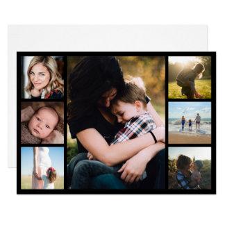 Cartão Dia das mães da colagem da foto da mamã