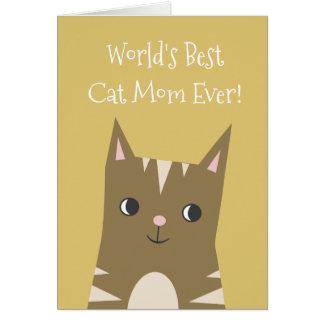 Cartão Dia das mães da mamã | do gato da ilustração | do