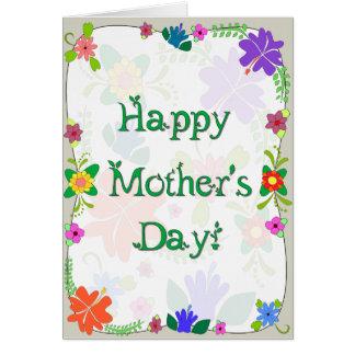 Cartão Dia das mães de flower power