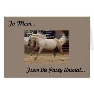Cartão Dia das mães - do animal de partido