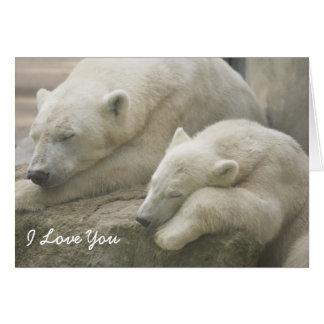 Cartão Dia das mães do urso polar