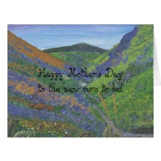 Cartão Dia das mães feliz à mãe nova a ser!!