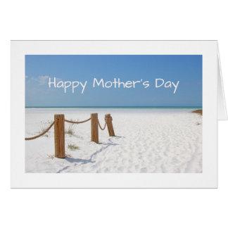 Cartão Dia das mães feliz da praia