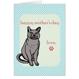 Cartão Dia das mães feliz | do gato