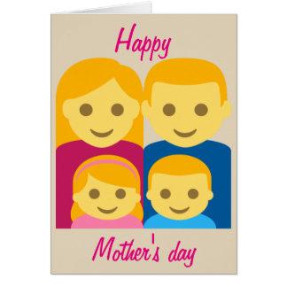 Cartão Dia das mães feliz Emoji