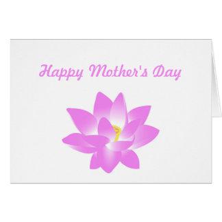 Cartão Dia das mães feliz floral cor-de-rosa do lírio de
