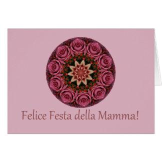 Cartão dia das mães feliz italiano!