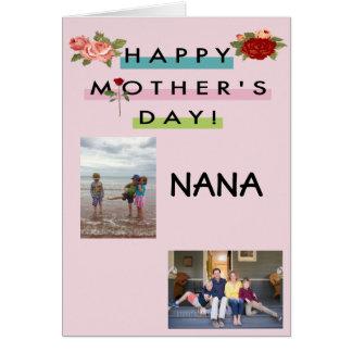 Cartão Dia das mães feliz Nana!