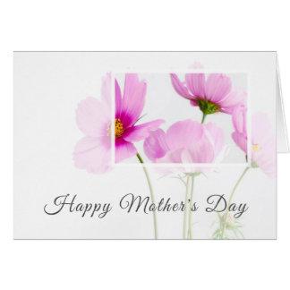 Cartão Dia das mães feliz personalizado floral moderno