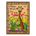 Cartão Dia das mães feliz, serindo de mãe a domingo com