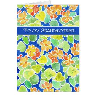 Cartão Dia das mães floral da avó das chagas brilhantes