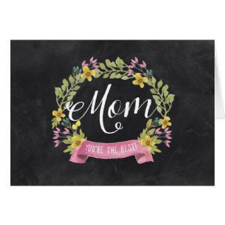 Cartão Dia das mães floral do quadro |