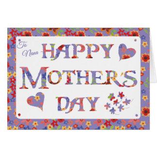 Cartão Dia das mães malva dianteiro feito sob encomenda