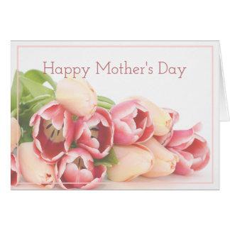 Cartão Dia das mães moderno do buquê floral do rosa do