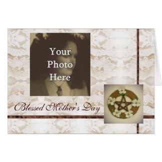 Cartão Dia das mães pagão de Wiccan da bruxa do Pentacle