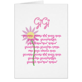 Cartão Dia das mães para GiGi