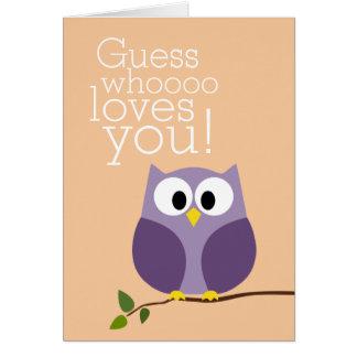 Cartão Dia das mães - suposição bonito da coruja que o
