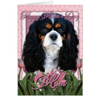 Cartão Dia das mães - tulipas cor-de-rosa - Cavalier -